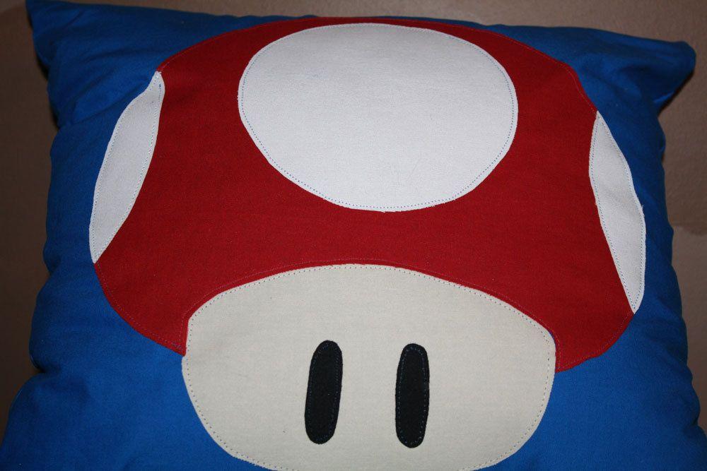 Super+Mario+Inspired+Mushroom+Throw+Pillow+by+EmilyPauline88,+$20.00