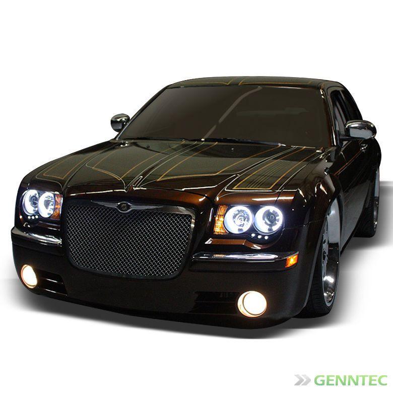 For Ccfl Halo 2005 2010 Chrysler 300c Led Projector Headlights Blk
