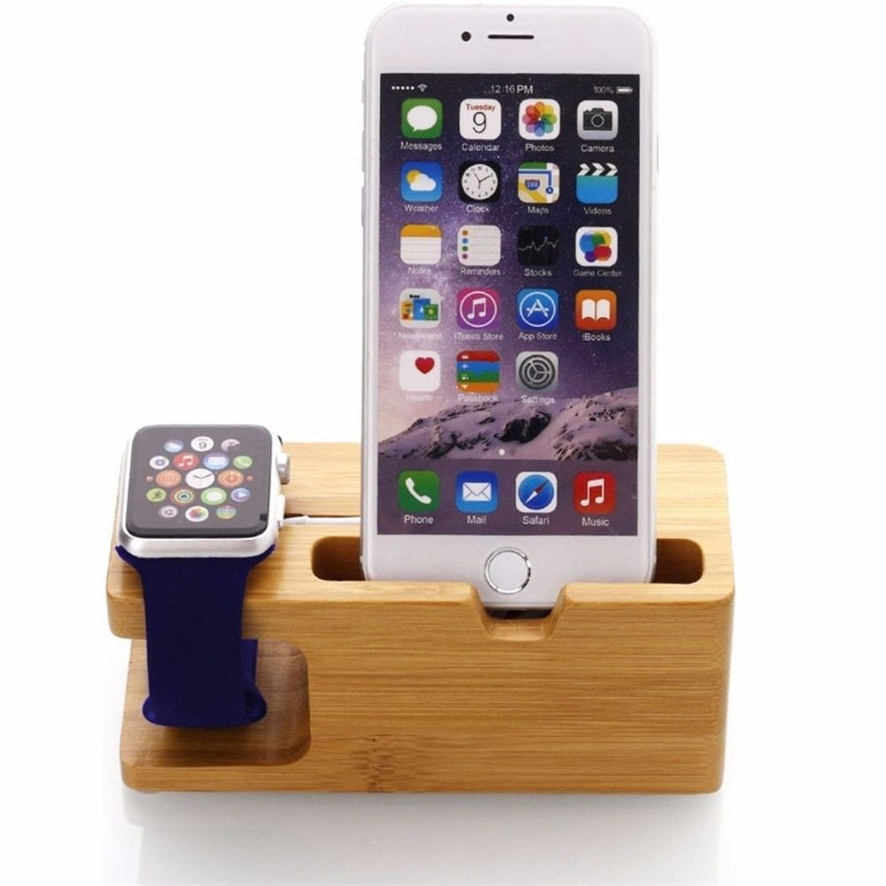 Jerx bamboo phone holder for iphone 7 plus wood smartphone