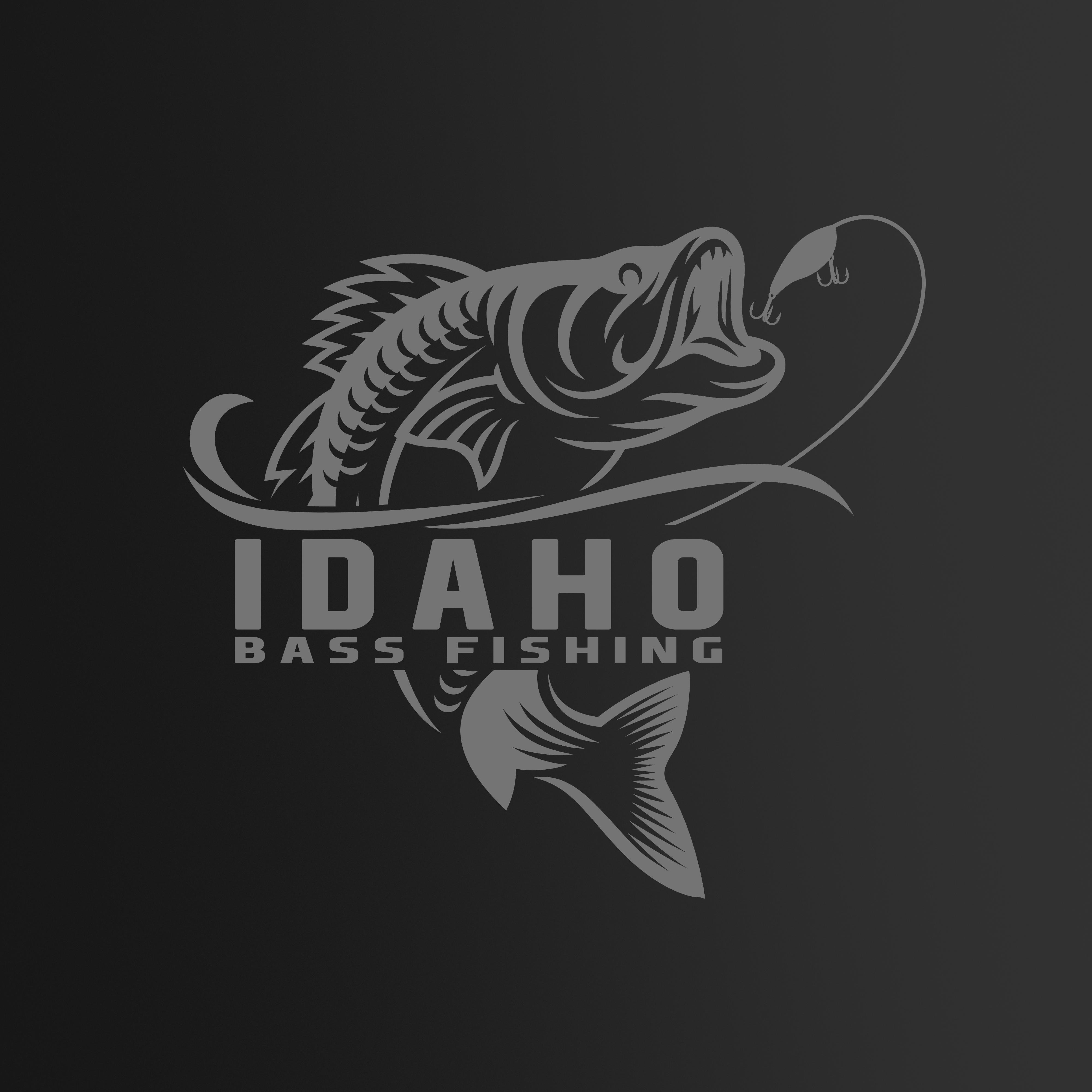 Idaho Bass Fishing Logo By Fourth Dimension Logo Fish Logo Pet Logo Design Fishing Logo Design