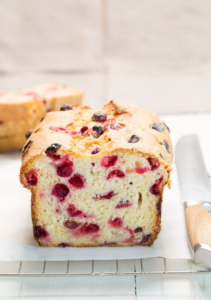 This gluten free cranberry bread is super moist, lightly sweet and only just a bit tart. It's the perfect quick bread for your holiday table!