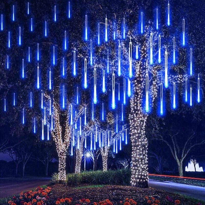 Christmas Led Outdoor Meteor Shower Rain Tubes Snow Light Rain Lights Shower Lighting