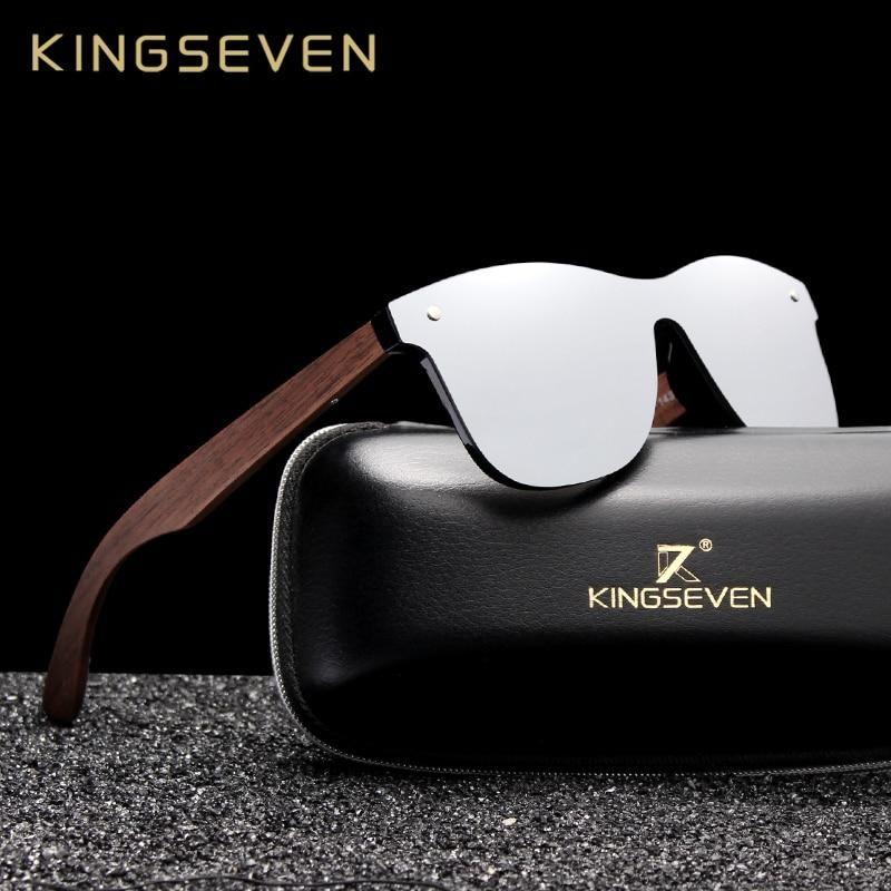 Luxury Walnut Wood Sunglasses Polarized Rimless Unisex
