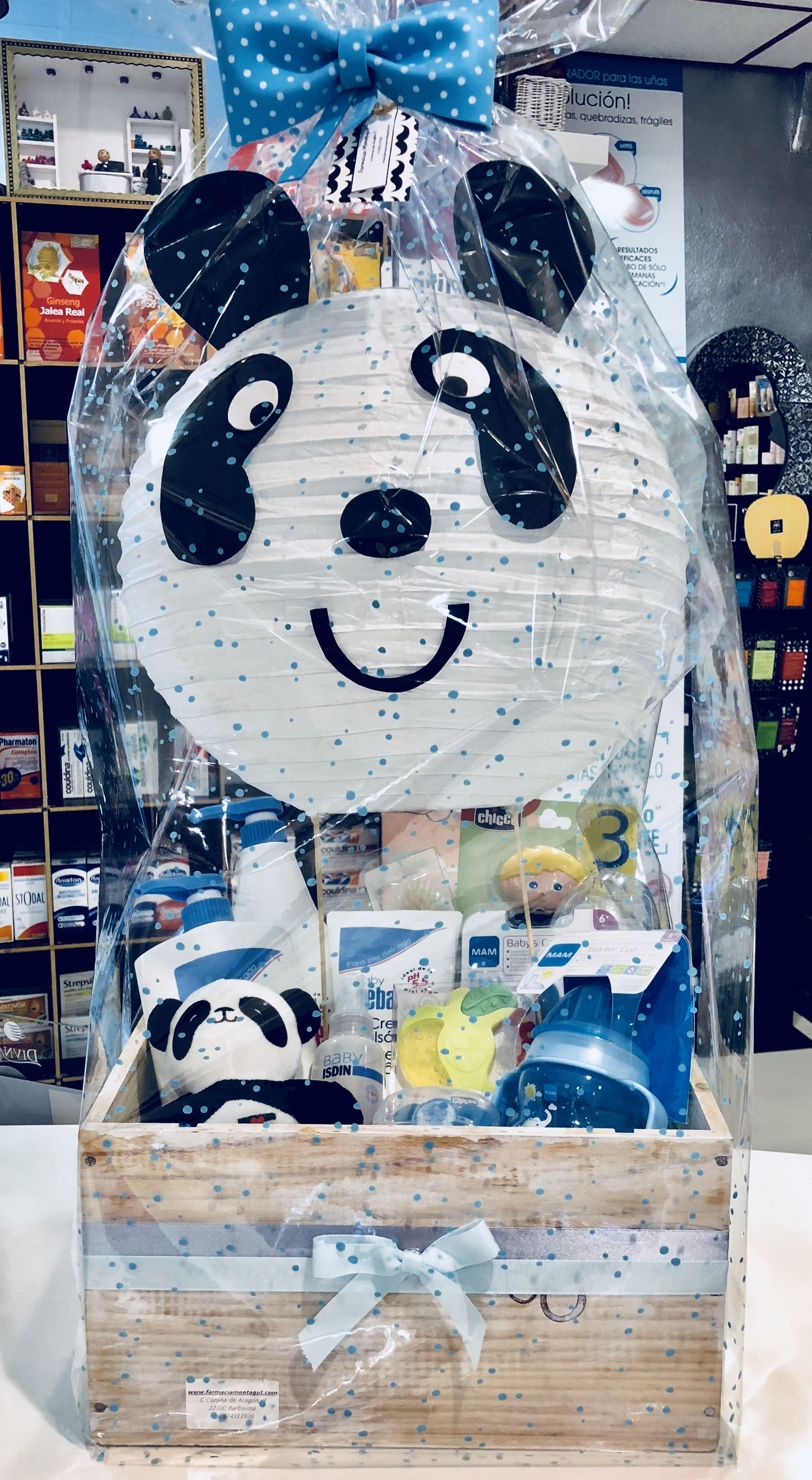 Canastilla Mas.Canastilla Regalo De Oso Panda Personalizamos Tus Regalos