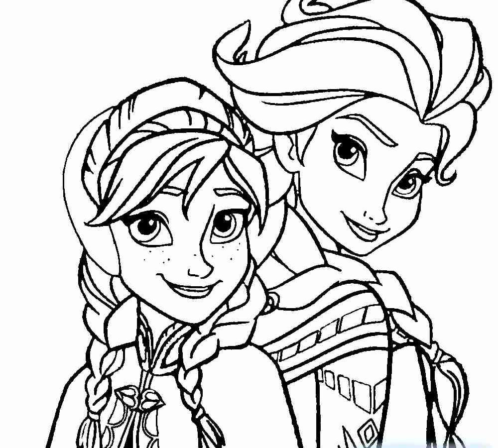 Princess Coloring Pages Frozen Anna And Elsa