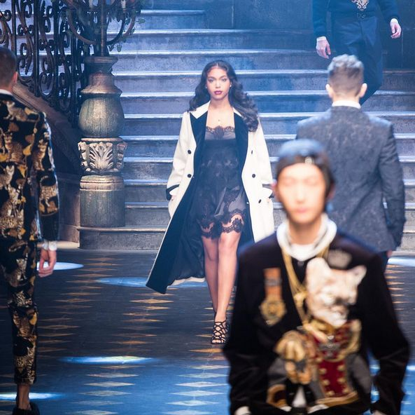 TOO MUCH SAUCE: Lori Harvey, Diggy Simmons & Sofia Richie Rip The Milan Runway For Dolce & Gabbana