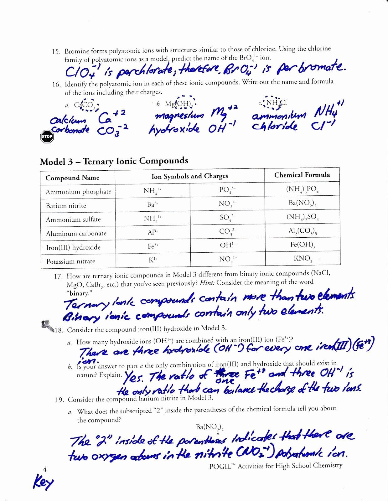 Polyatomic Ions Worksheet Answers Luxury Pin Chemistry