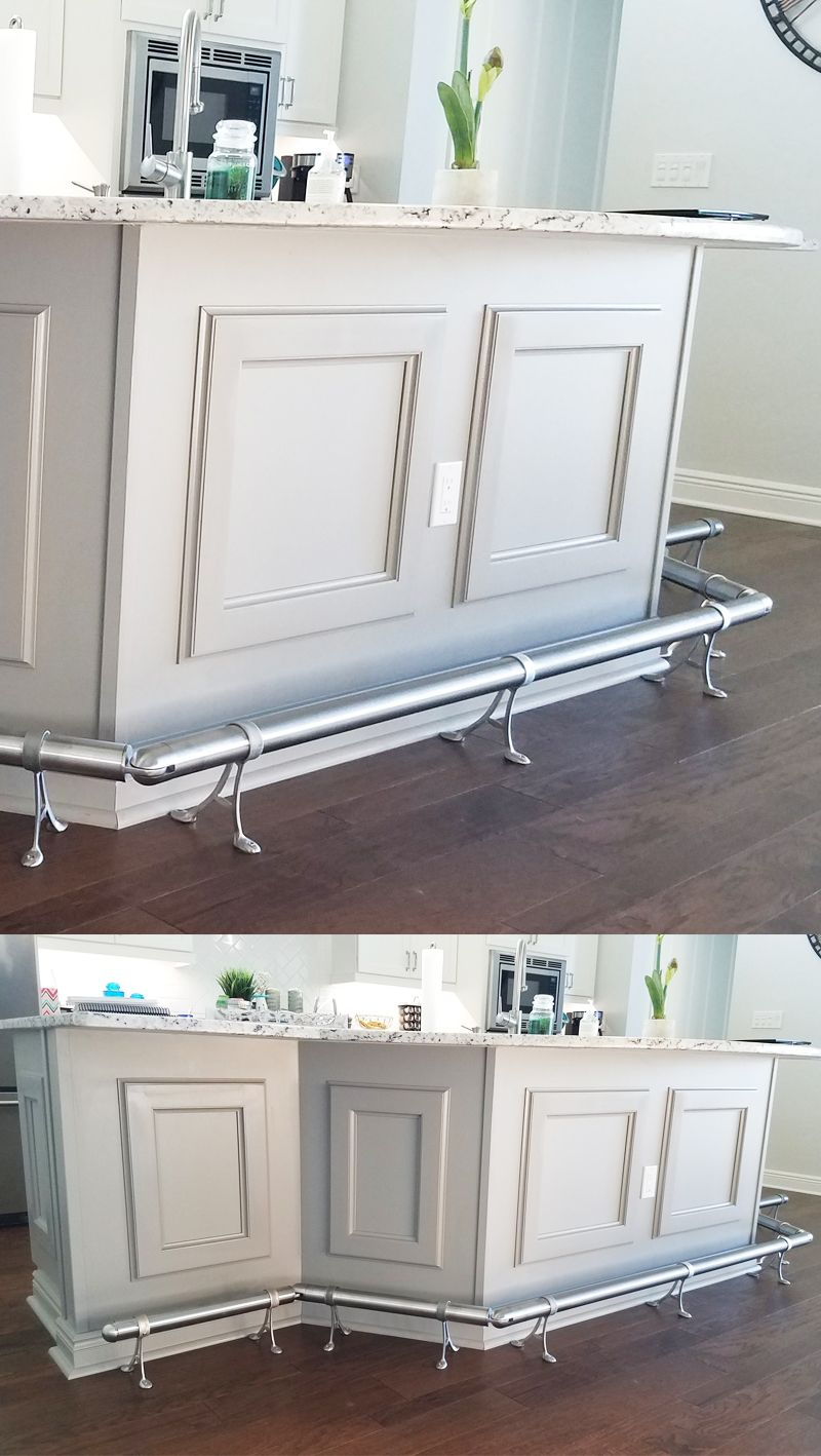 Brushed Stainless Steel Is One Of Our Most Popular Bar Foot Rail Finishes But Did Yo Kitchen Renovation Design Kitchen Renovation Inspiration Home Bar Designs