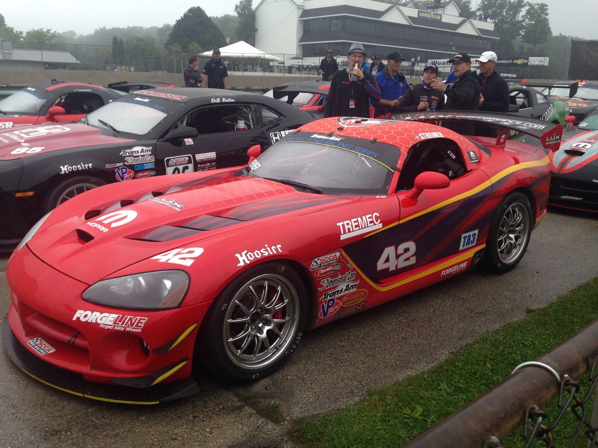 A great day for the Trans Am Racing Series at Road America today! Steve Streimer wins TA3i and Cindi Lux Fan Page takes 2nd in their Lux Performance Dodge Vipers on Forgeline GA3R-6 wheels!  #Forgeline #GA3R6 #notjustanotherprettywheel #madeinUSA #Dodge #Viper