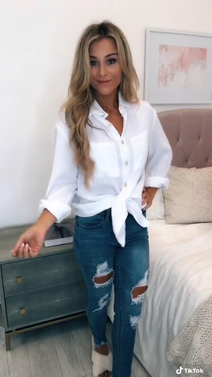How to Style a Button Down Shirt in Seconds!