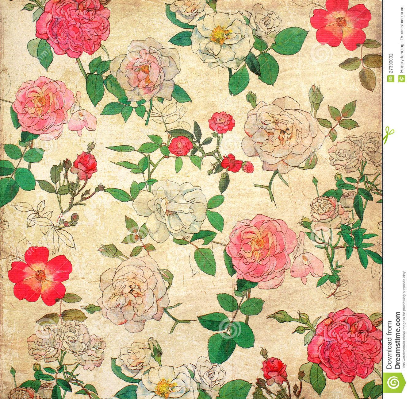 Stock Photo Floral Vintage Wallpaper By C Nongnuch Leelaphasuk