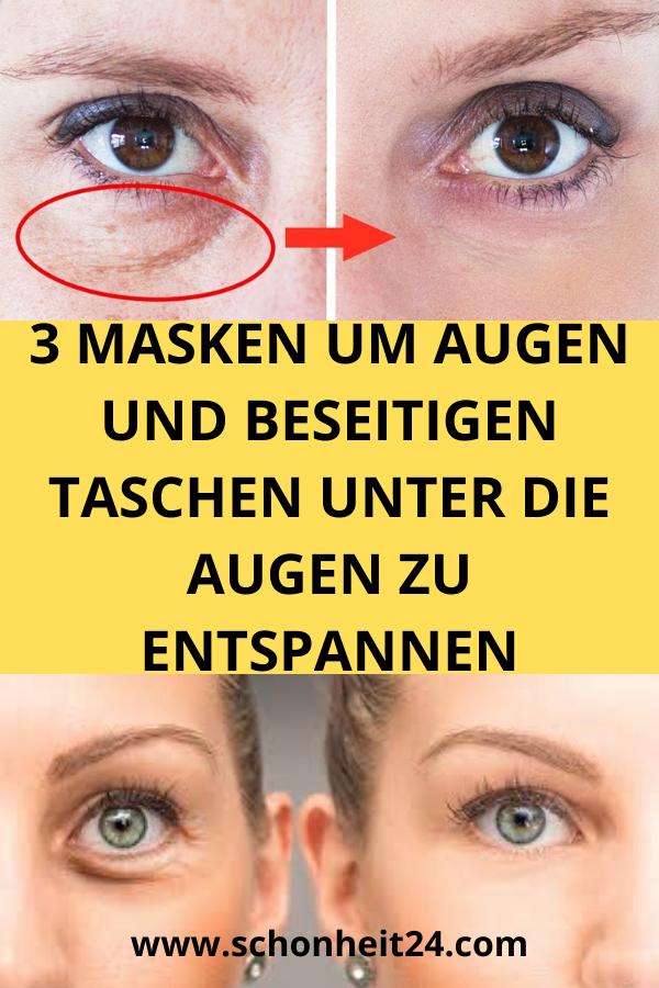 3 Masken Um Augen Und Beseitigen Taschen Unter Die Augen Zu Entspannen Health And Beauty Beauty Beauty Hacks