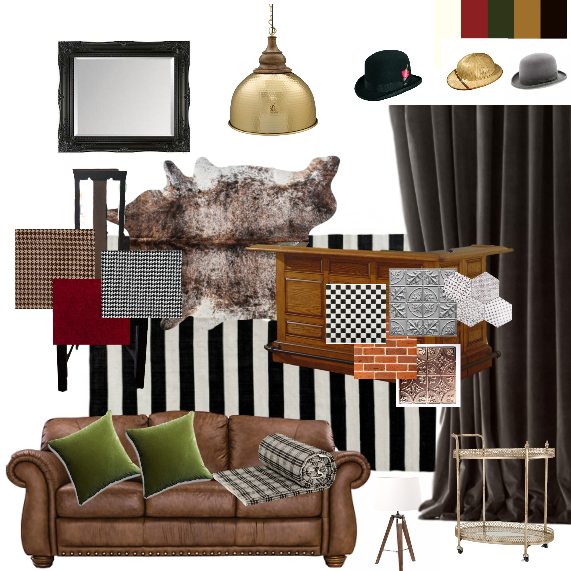 Gentleman s club cigar lounge mood board ideas board decor