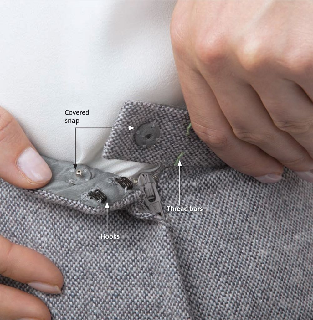 Couture Techniques for a Better Fitting Waistband #couturesewing