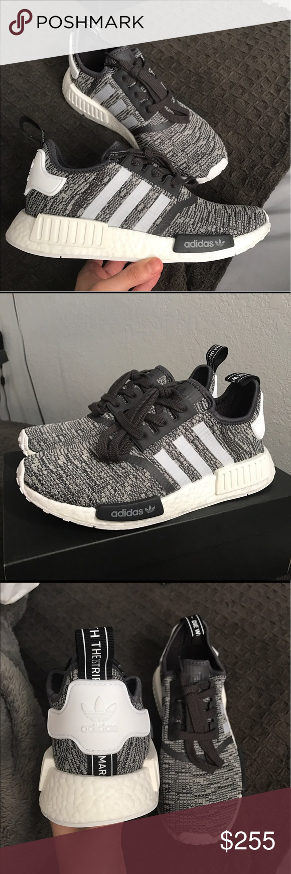 a1af79fa4363e Adidas NMD r1 midnight grey  white Brand new comes with original box Adidas  Shoes Sneakers