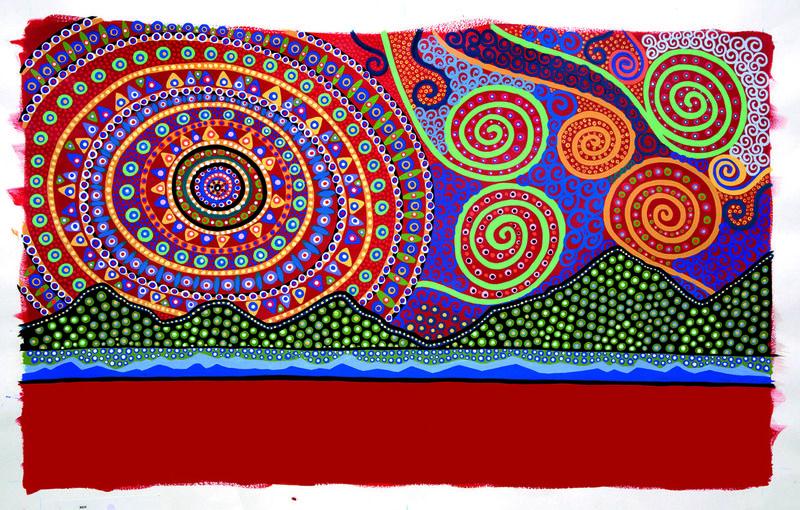 Australian Bronwyn Bancroft Is An Aboriginal Artist Fashion Designer And Illustrator She Has Illus Aboriginal Dot Painting Indigenous Australian Art Bancroft