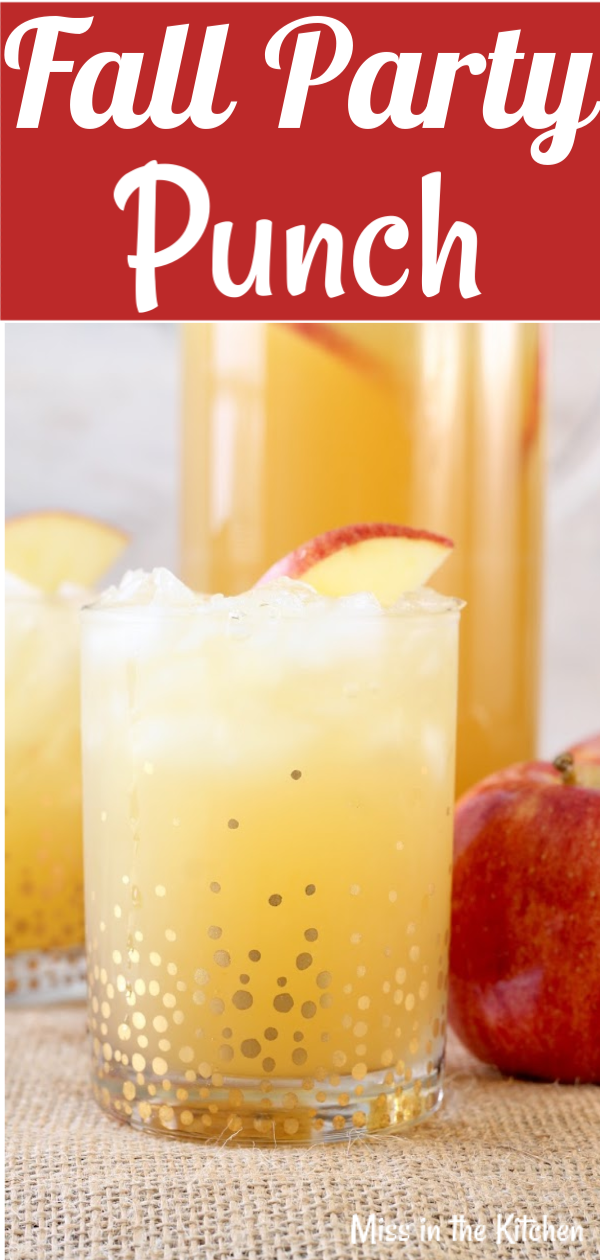 Easy Fall Party Punch {VIDEO} - Miss in the Kitchen