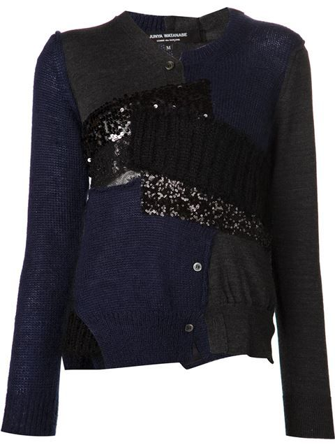 Shop Junya Watanabe Comme Des Garçons patch cardigan in H. Lorenzo from the world's best independent boutiques at farfetch.com. Over 1000 designers from 60 boutiques in one website.