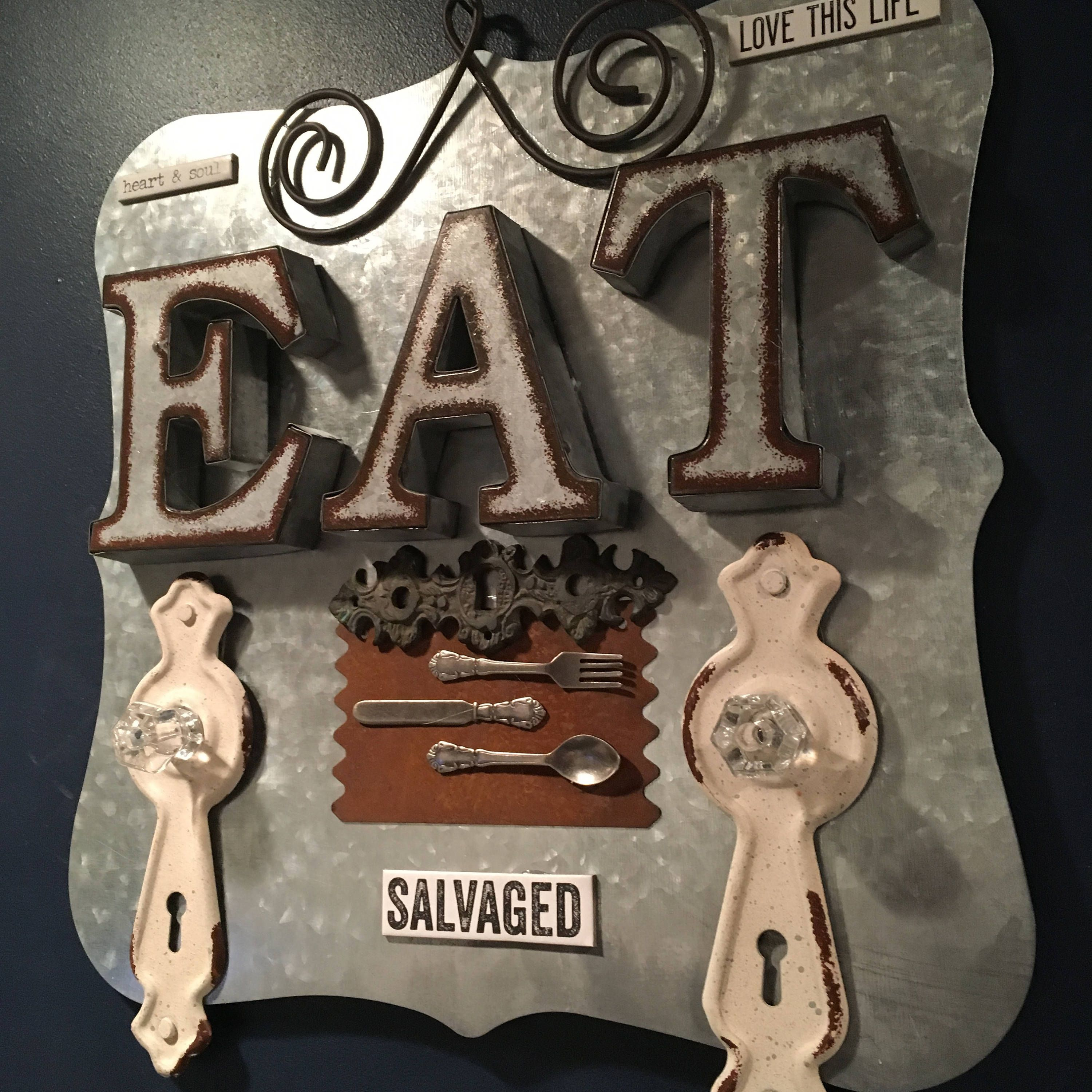 Industrial Metal Retro Eat Sign, Funky Kitchen Decor, Salvaged Eat Sign, Metal  Kitchen Art, Metal Kitchen Decor, Contemporary Kitchen Art