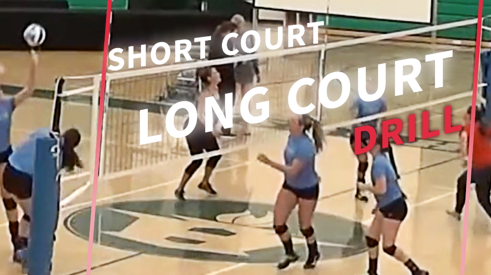 Short Court Long Court Warmup Drill For Teams With Limited Rosters In 2020 Coaching Volleyball Youth Volleyball Volleyball Drills