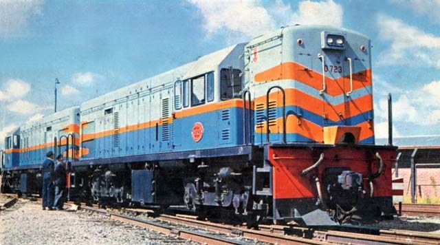 GE SAR's diesel electric locomotives Class 1-DE in South Africa