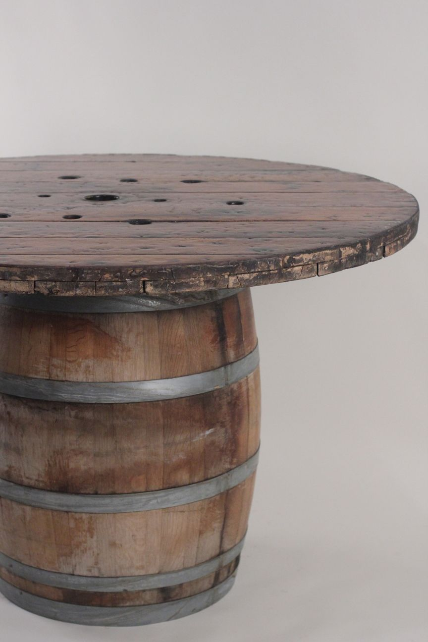 Industrial Modern Spool Top Table By Wildflower16 On Etsy 350 00 Spool Tables Spool Furniture Wire Spool Tables