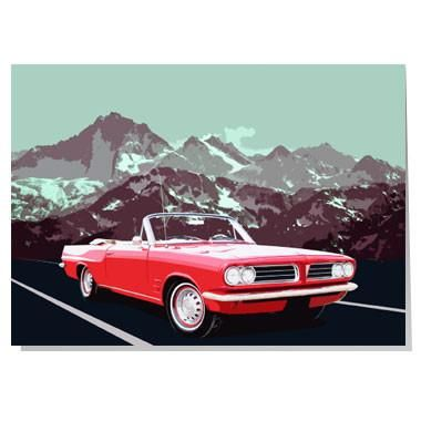 Pontiac Tempest Le Mans Card Perfect For Classic Car Lovers