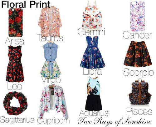 Floral Print Zodiac Pinterest Zodiac Floral And Printing