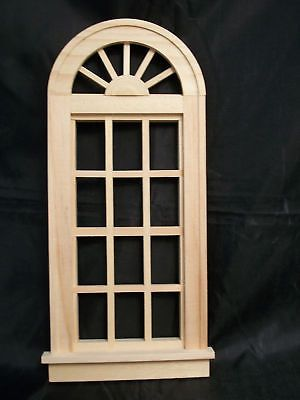 Dollhouse Miniatures Houseworks Window Wood Acrylic Scale 1:12  LOT of 2  NOS