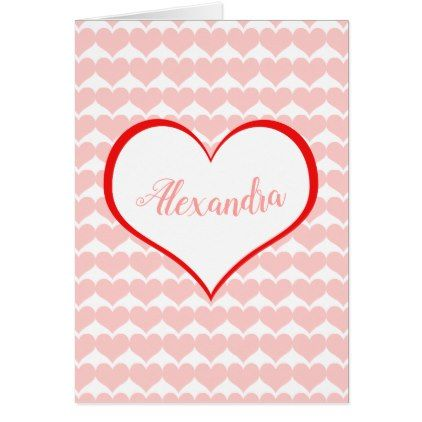 happy valentines day custom name card - Happy Valentines Cards