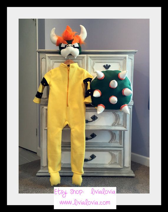 Bowser Inspired Costume, Mario Inspired Costume, Luigi Inspired Costume, Mario Kart Costume, Mario Kart Birthday Party, Mario Party