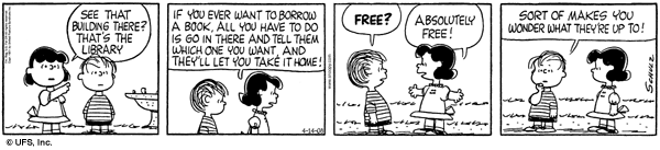 Peanuts on Libraries