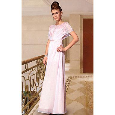 Sheath/Column Scoop Ankle-length Evening Dress – USD $ 59.99