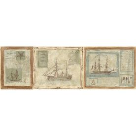 allen + roth 8.5in Prepasted Wallpaper Border Nautical