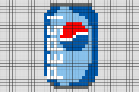 Pepsi Pixel Art Pixel Art Templates Pixel Art Art