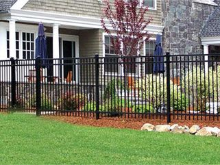 Fence If We End Up With One This Is The Kind I Would Want So It Still Feels Open Steel Fence Backyard Fences Fence Design