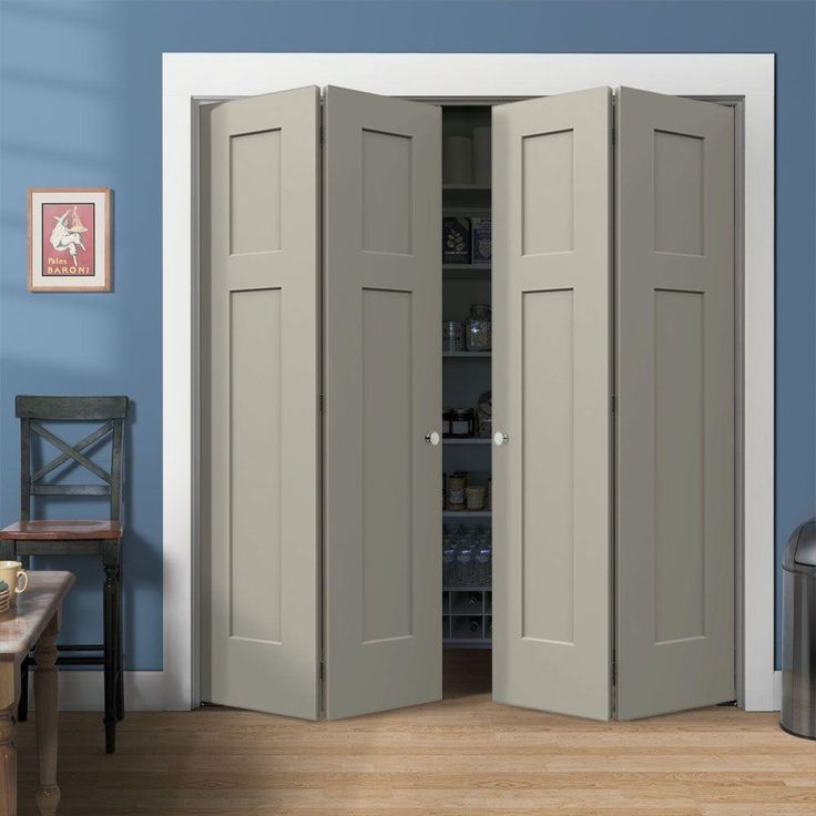 ... Bifold Closet Doors ~ Decoration Inspiration. JELD WEN72 In. X 80 In.  Molded Craftsman Brilliiant White 3 Panel Smooth Hollowu2026