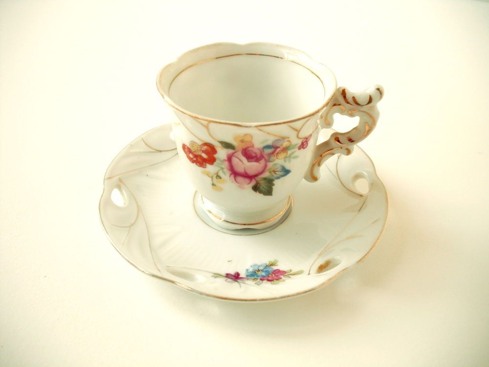 Antique Tea Cup & Saucer SET * Made in Occupied Japan * Vintage * Ornate…