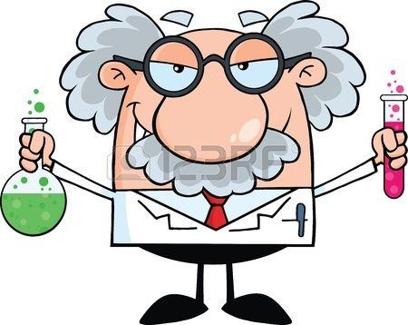 Cientifico Loco O Profesor Que Sostiene Una Botella Y Vaso Con Liquidos Cientifico Dibujo Decoracion Laboratorio De Ciencias Dibujos De Ciencias Naturales