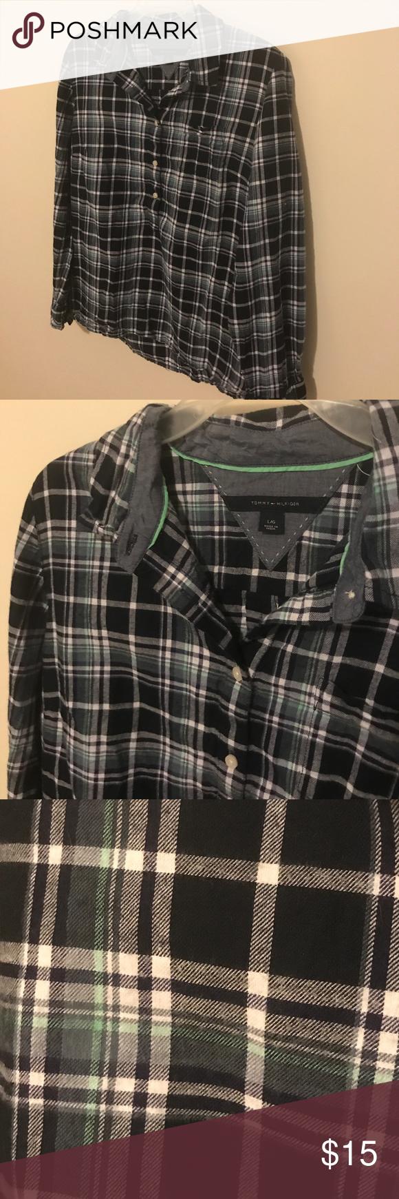 Tommy Hilfiger flannel Lighter weight flannel. Half button