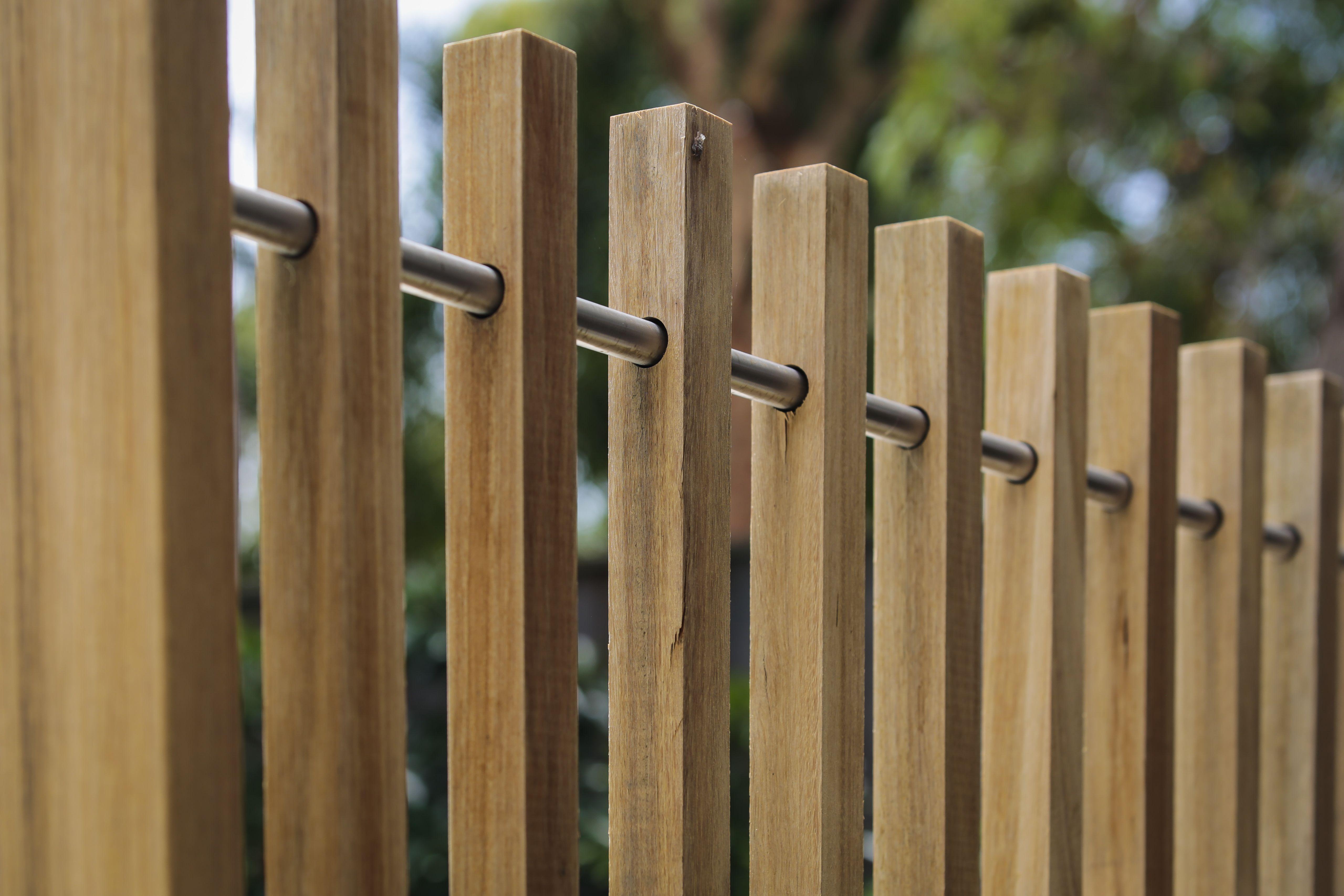 timber batten fence  formed gardens
