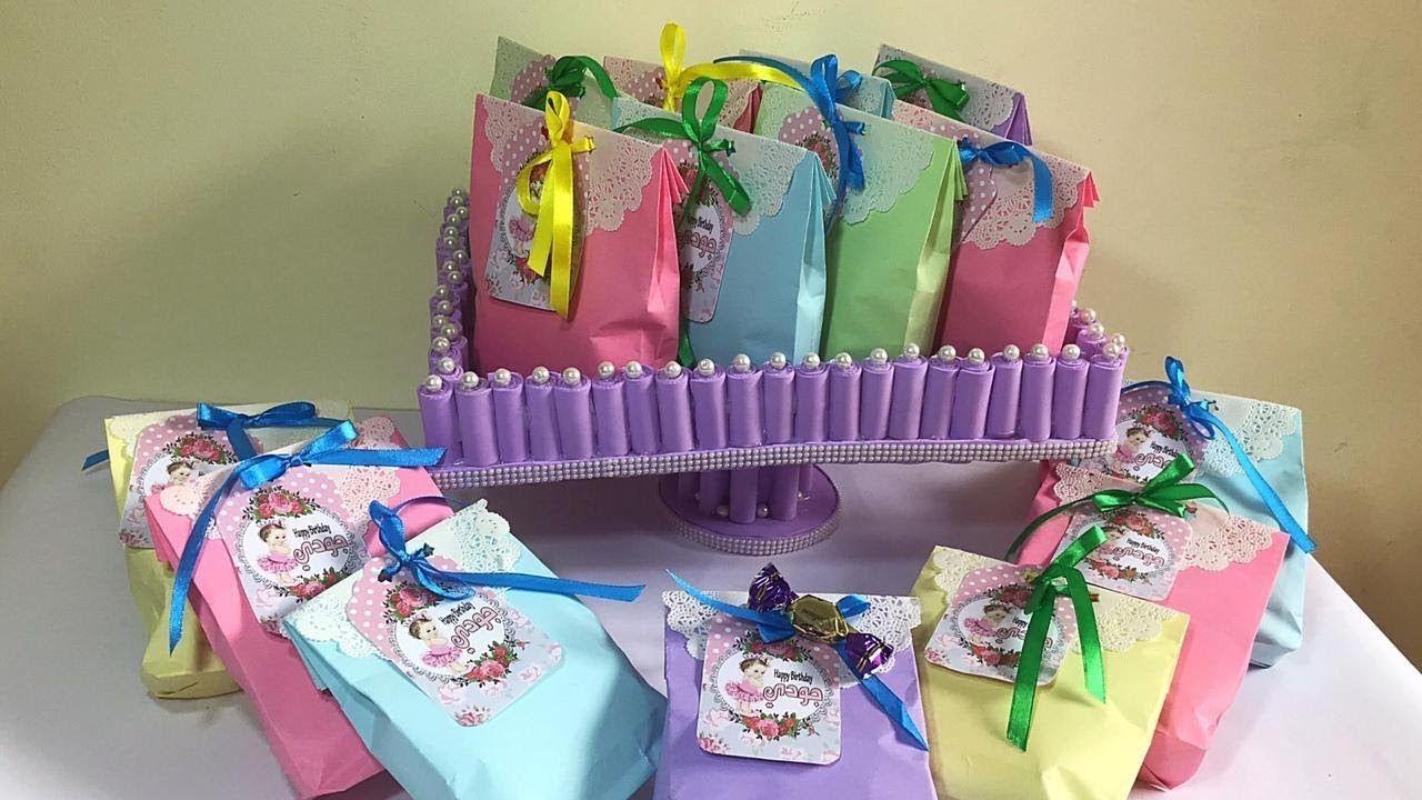 عملت توزيعات عيد ميلاد بنتى لزمايلها كلها بإيدي تعالو شوفو ازاى Diaper Cake Cake Children