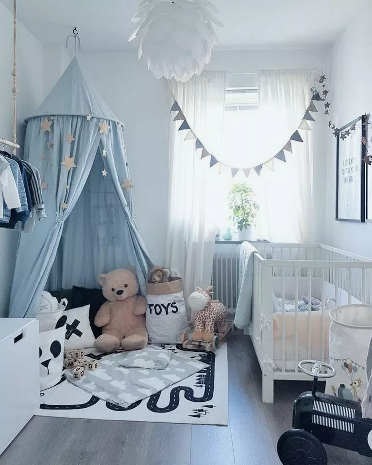 27 Small Bedroom Design Ideas For Your Apartment Smallbedroom Bedroomdesign Bedroomideas Gorgeou Baby Boy Room Nursery Nursery Room Boy Nursery Baby Room