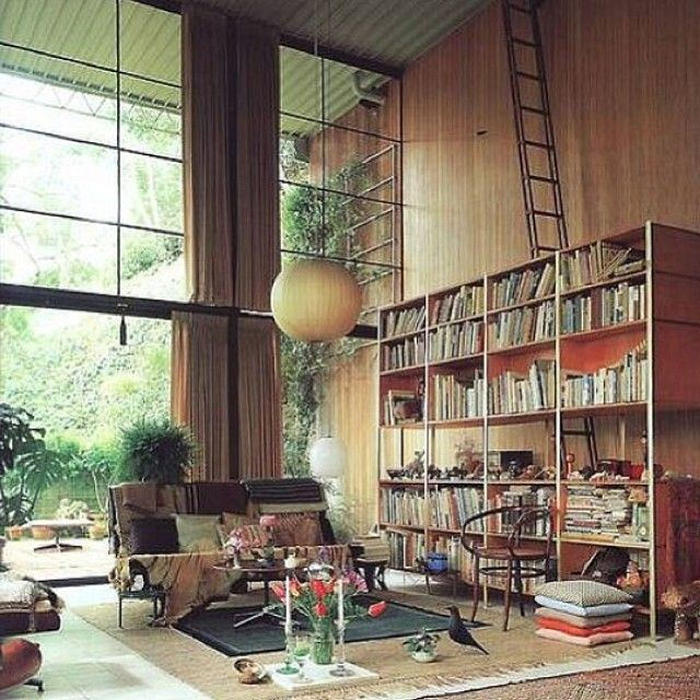 Eames House. Magnificent on such a grand scale! #eames #midcentury #architecture #interiordesign #design #styling #home #decor #homewares #roomoftheday #love #lounge #dream #library #reading #bookworm #artdeco #canimovein #thestylephiles