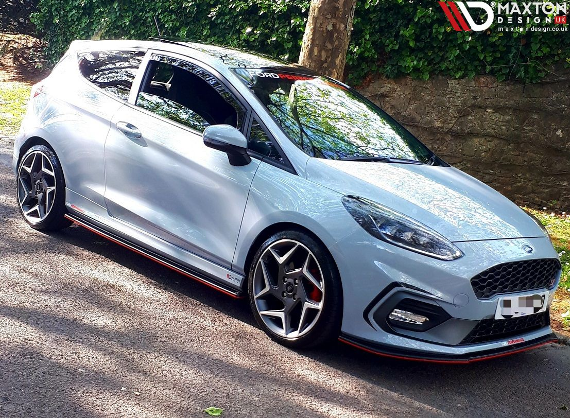 Some Of Our Newer Products On Show Here For The Mk8 St Front Splitter Side Skirt Diffusers Red Stripe Ford Fiesta St Ford Fiesta Modified Ford Fiesta