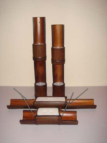 Manualidades forlayn trabajos en bamb decoraci n con - Bambu para decorar ...