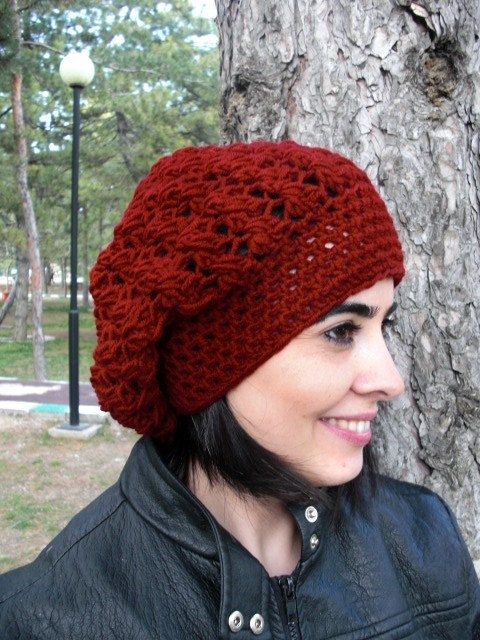 This slouch beanie will make you eye catching, and also to keep you ...
