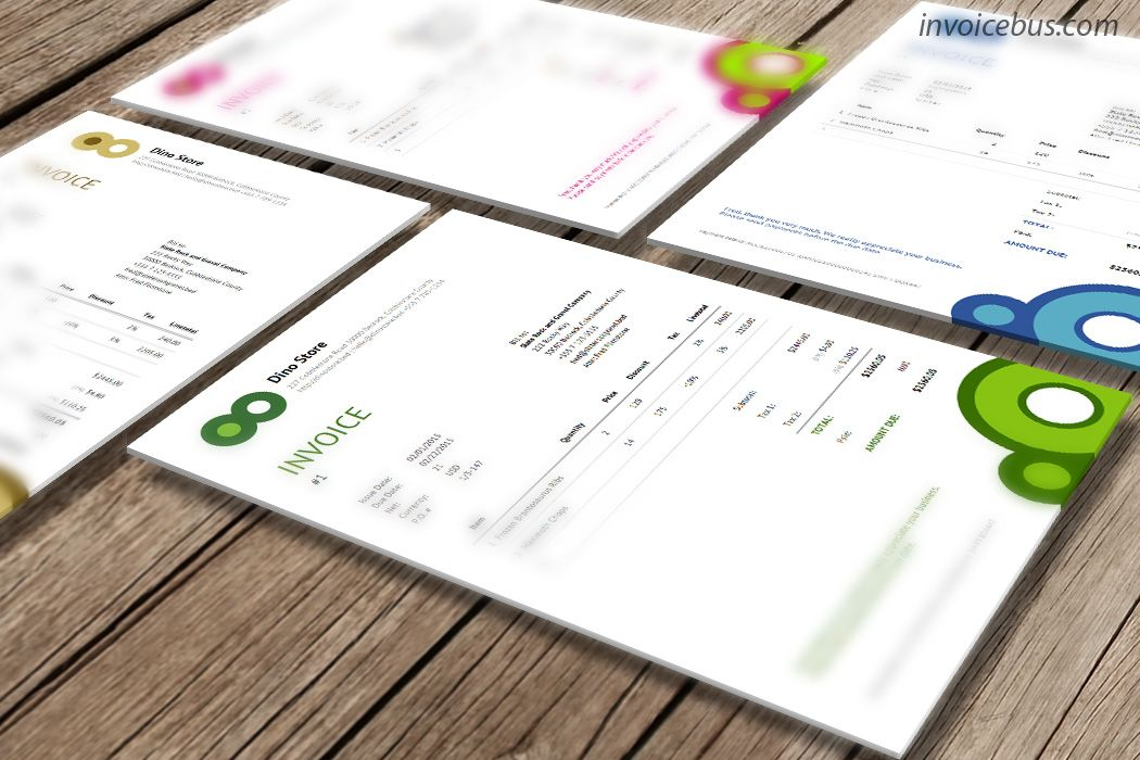 Responsive Invoice Template In Html Css Vip Factuur Sjabloon