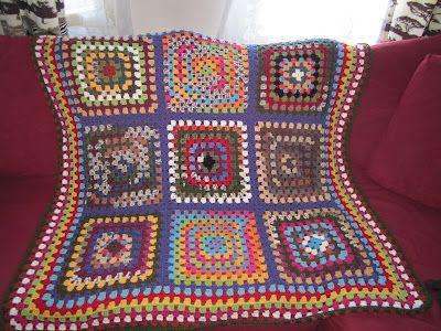 granny square blanket for granny