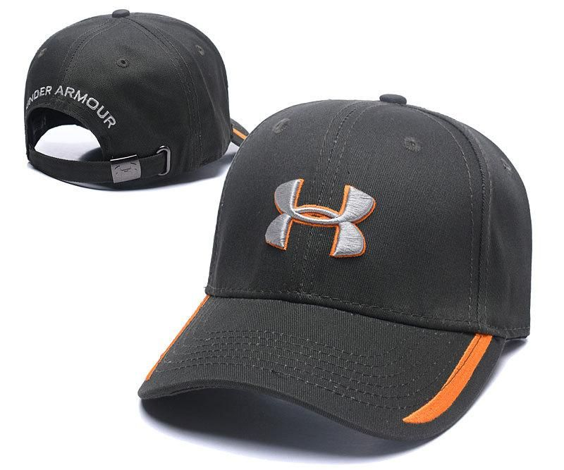 Men's / Women's Under Armour The UA Logo Blitzed Out Dad Hat - Grey / Orange